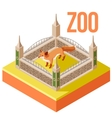 Zoo Fox isometric icon vector image