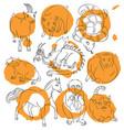 cat-dragon-goat-horse-monkey-pig-rat-sheep-snake vector image