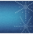 Christmas snowflakes on a blue jeans texture vector image