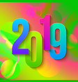 2019 colorful numbers papers vector image