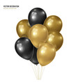 3d realistic golden with black bunch of vector image