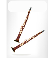 A Musical Clarinet with A White Banner vector image vector image
