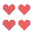 A set of halftone hearts