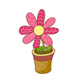 a view flower pot vector image vector image