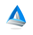 abstract triangle 3D business logo vector image