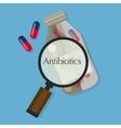 antibiotics capsule medication vector image vector image