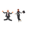 arabic business man and business woman characters vector image vector image