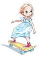bagirl skateboarder vector image vector image