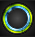 Blue and green glowing circle logo vector image vector image