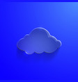 Blue eco glossy glass cloud icon vector image