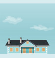 blue house against the sky vector image