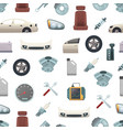 car parts pattern or background vector image vector image