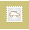 Car stamp vector image