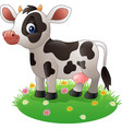 Cartoon cow standing on grass