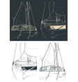 catamaran outline close up vector image vector image