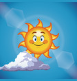 character sun smiling cute face - cartoon in the vector image vector image