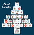 christmas advent calendar hand drawn elements and vector image vector image