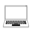 computer icon cartoon in black and white vector image vector image