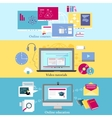 Concept of Distance Learning and Education vector image vector image