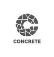 concrete logo design template vector image vector image
