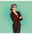 Confident Business Woman Pop Art vector image