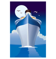 cruise liner cruise ship vector image vector image