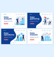 data analysis landing page statistical analyst vector image