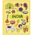 Doodle about India vector image vector image