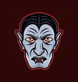 dracula vampire head cartoon vector image vector image