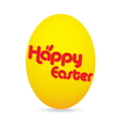 easter day golden egg cartoon character vector image vector image