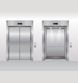 elevator doors cartoon flat vector image