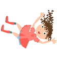 falling girl rabbit hole vector image vector image