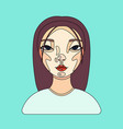 female user avatar of businesswoman icon of cute vector image