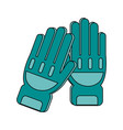 fire fighter gloves vector image
