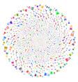 flask spiral spheric cluster vector image vector image