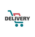 flat delivery icon vector image vector image