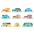 flat icon suburban american house for web design vector image