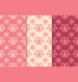 floral seamless pattern red set vector image