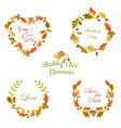 Floral Tags Labels and Banners - for T-shirt vector image vector image