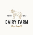 fresh milk dairy farm abstract sign symbol vector image vector image