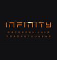 geometric letters set futuristic technology vector image vector image