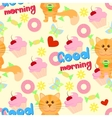 Good morning funny pattern vector image