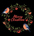 hand drawn merry christmas typography vector image vector image