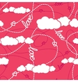Hearts Clouds Love Seamless Pattern vector image vector image
