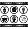 hellenic buttons stencil fourth variant vector image vector image