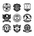 Hockey Badges vector image vector image