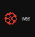 horror film cinema logo logo template vector image
