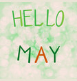 inscription hello may on a vector image