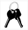Keychain isolated on whate background vector image vector image