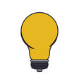 light bulb icon colorful silhouette with thick vector image vector image